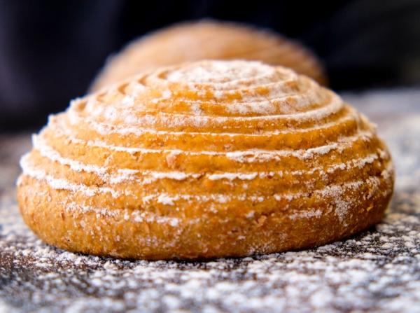 Freshly baked bread at Isaac At