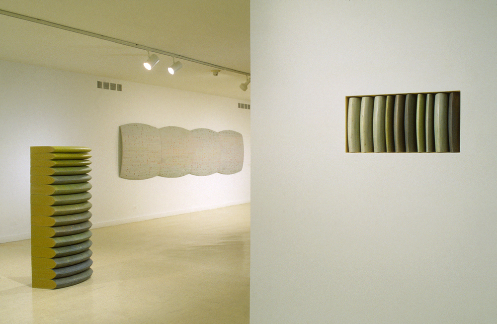 diaries, hive, blots, paint on cork, dictionary pages, polyurethane, shaped MDF, Cranbrook Art Museum, 1999