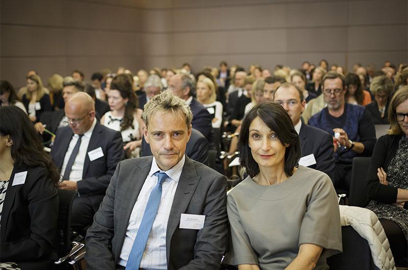 Die Veranstalter Gerd Giesler, Journal International, und Petra-Anna Herhoffer, INLUX