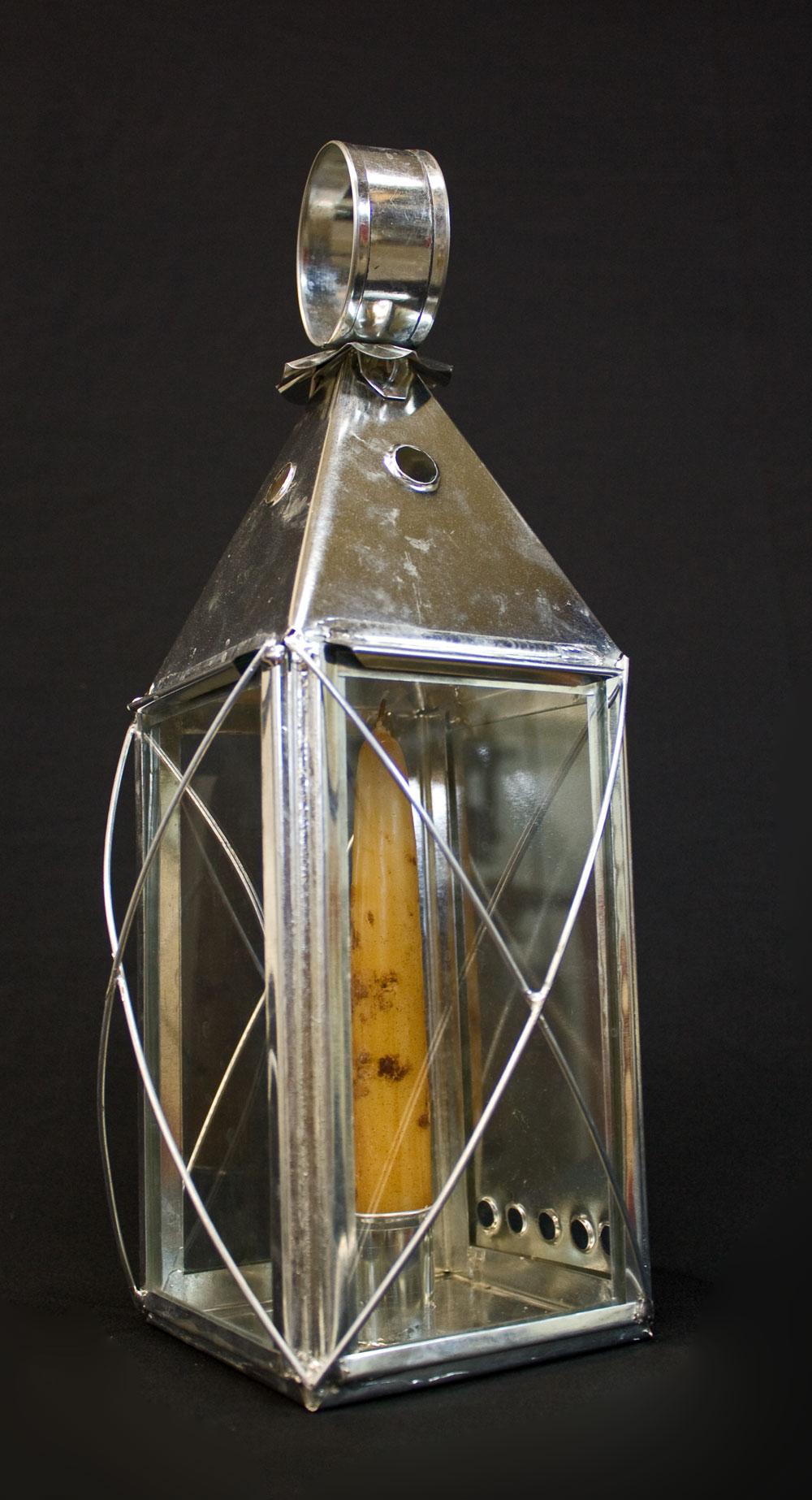 Shaker inspired tin lantern.