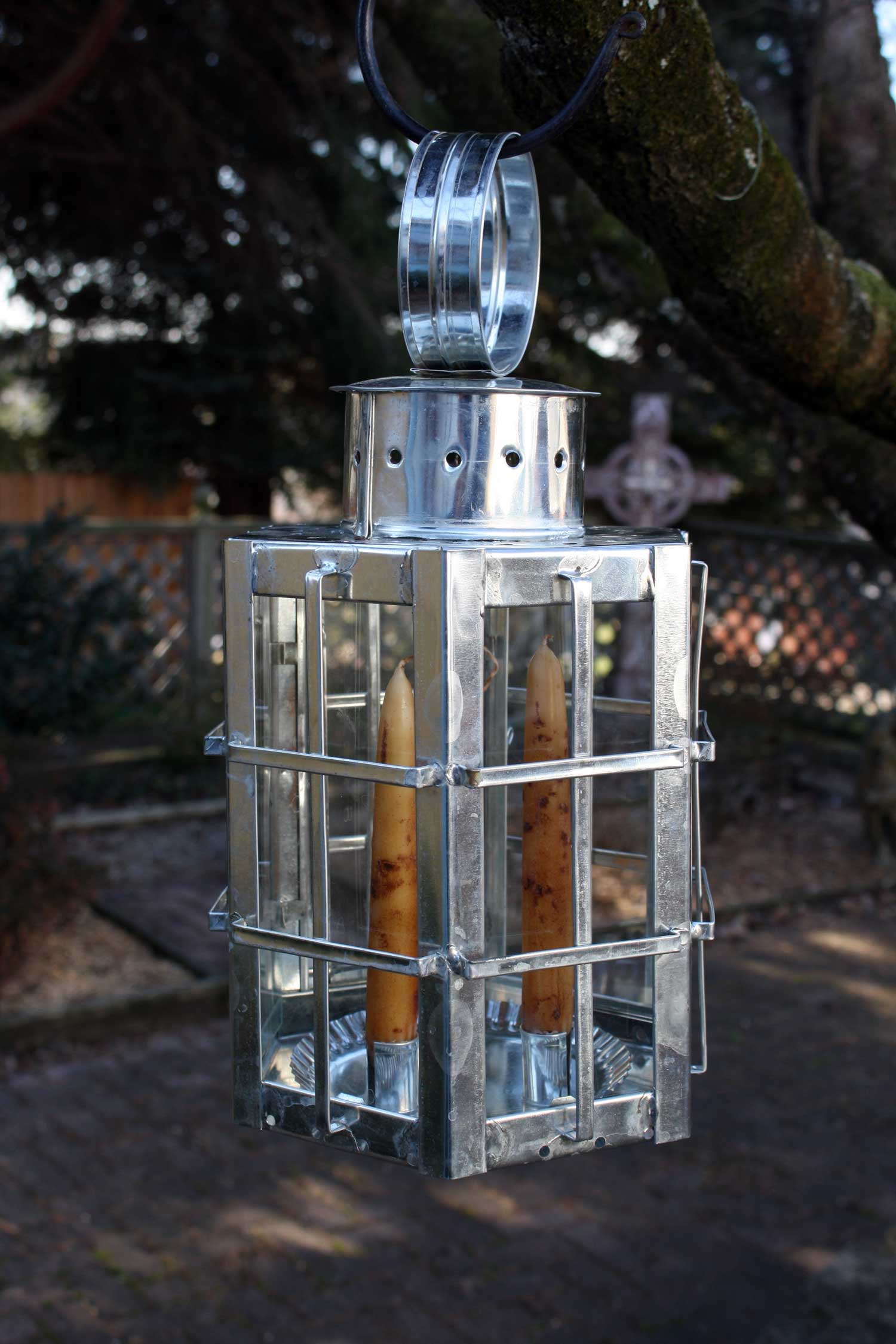 Colonial style hot-dipped tin Ship's Lantern by Rob Gorrell