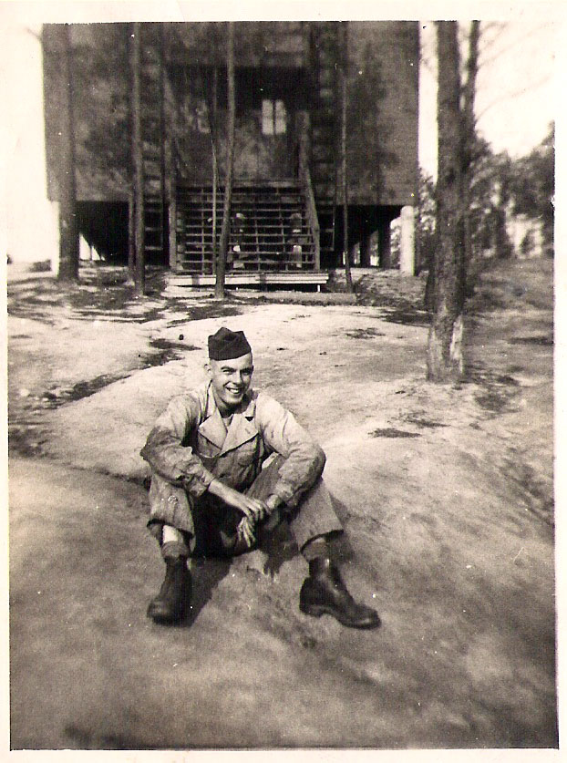Butcher at Camp Butner.