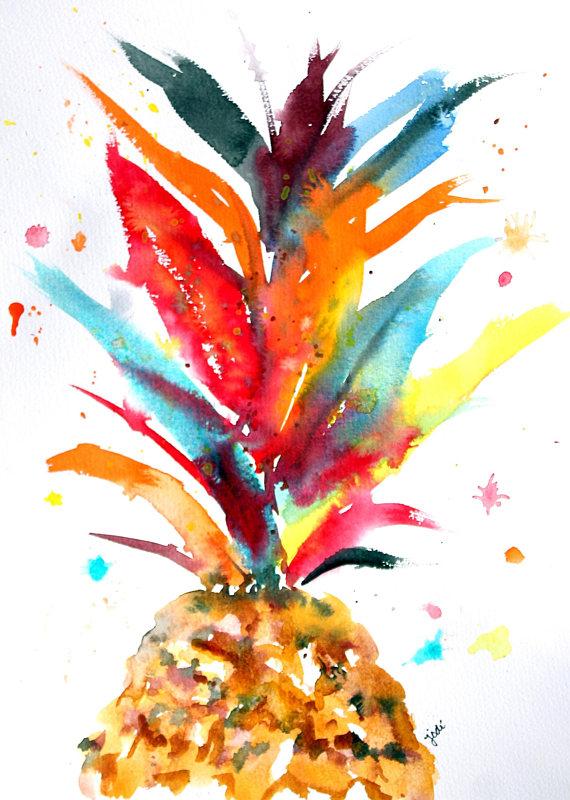 colorful pineapple crown watercolor.jpg