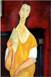 4.-Modigliani--La-femme-a-l'eventail