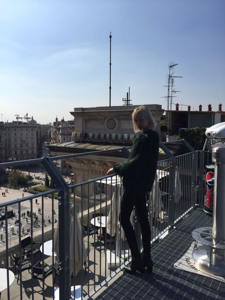 Enjoying the Milan views