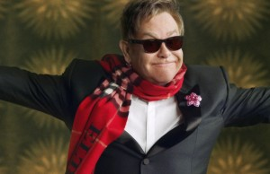 Elton John in the Burberry Festive Film Behind The Scenes, shot by Burberry