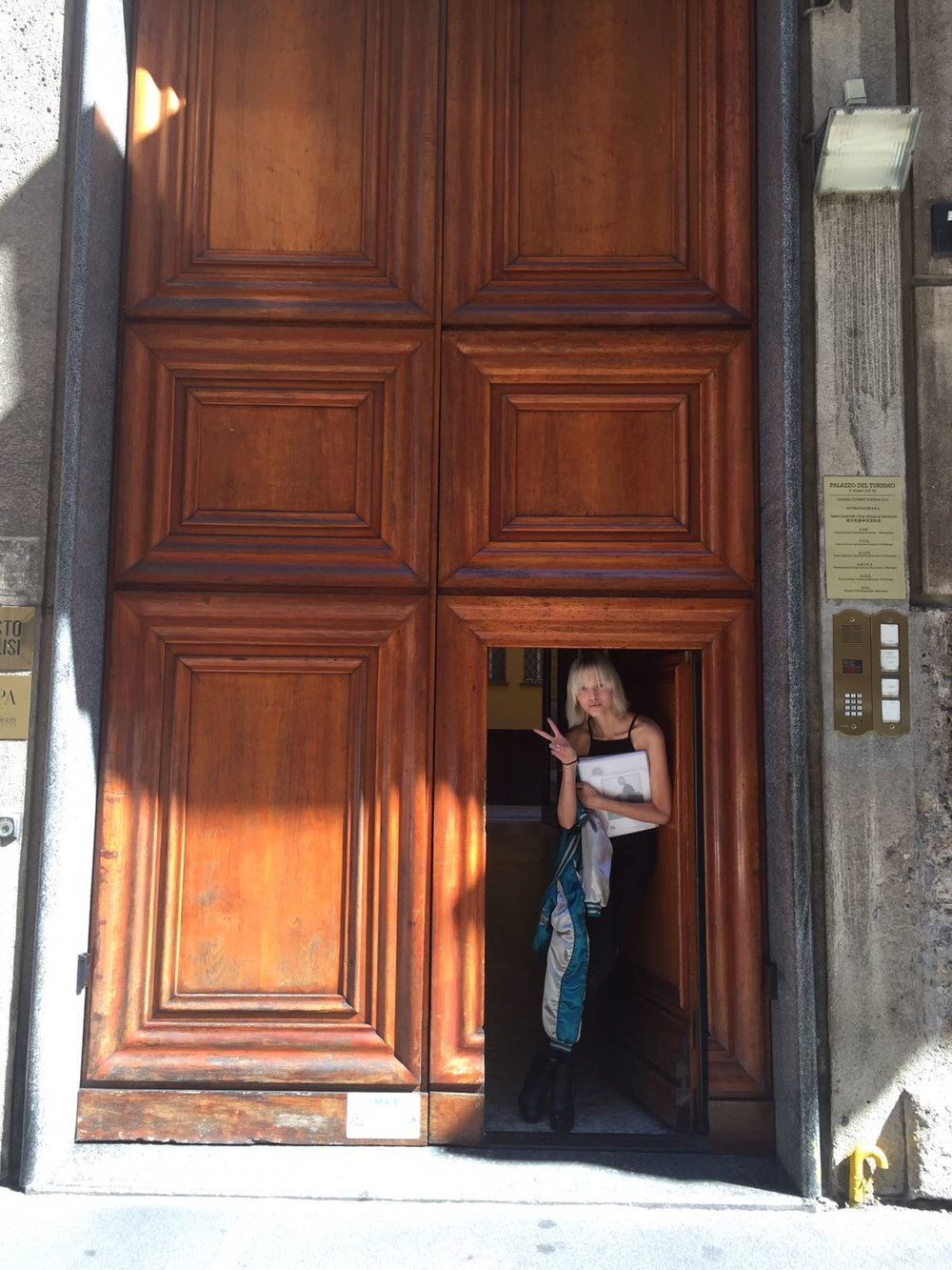 Its very rare that I feel tiny, but Milan doors can do that to you