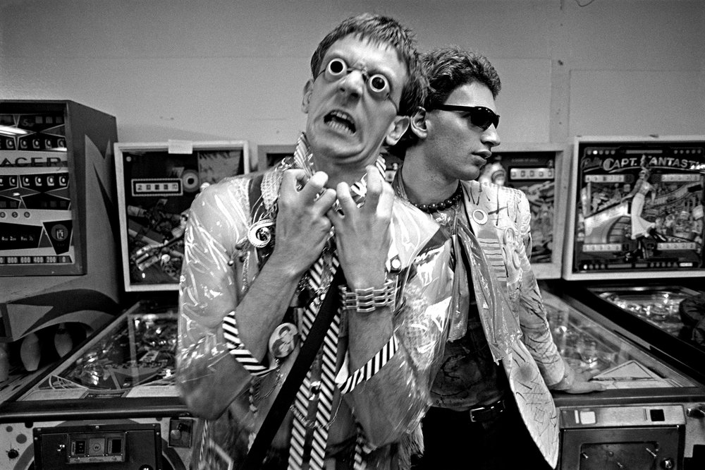 John Denney and Nicky Beat (The Weirdos) in Hollywood, 1977. Photo: Melanie Nissen.