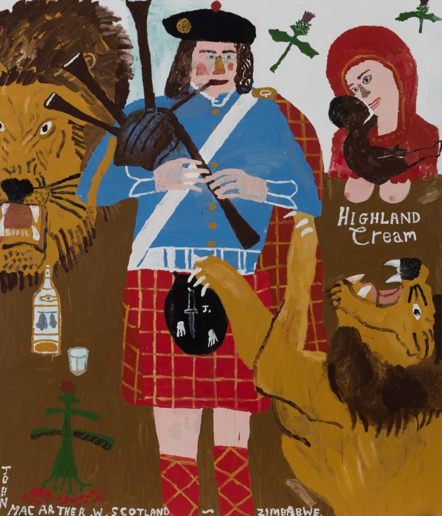 "Danny Fox   ""Highland Cream""  Acrylic on canvas   84 by 72 in."