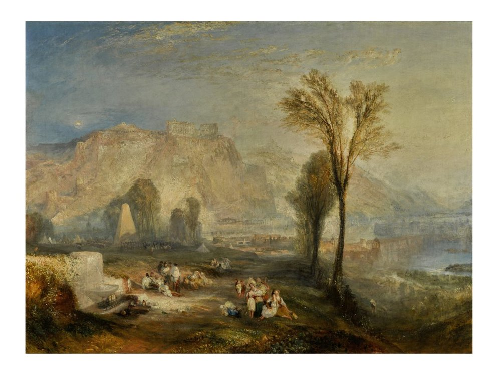 "J.M.W. Turner. ""Ehrenbreitstein"" (1835). Oil on canvas. 93 x 123 cm."