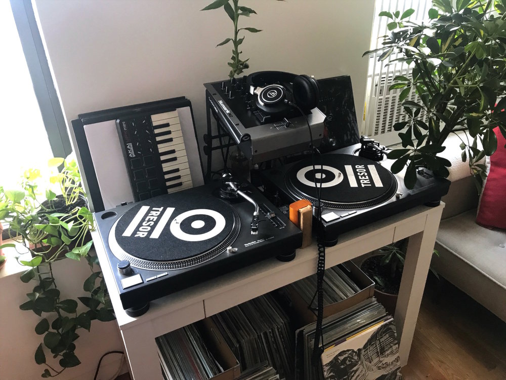 There is no day without music. I am very lucky - our East Village neighbors love electronic music. So I can make a rave in my little apartment.