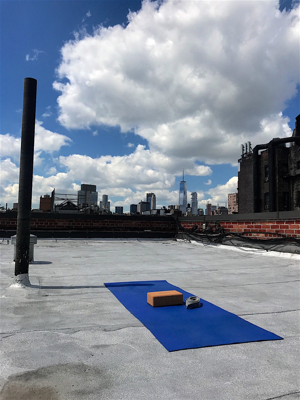 Iyengara yoga and running are my good habits. I managed to learn how to practice at home, but sometimes this NYC view won't let me focus.