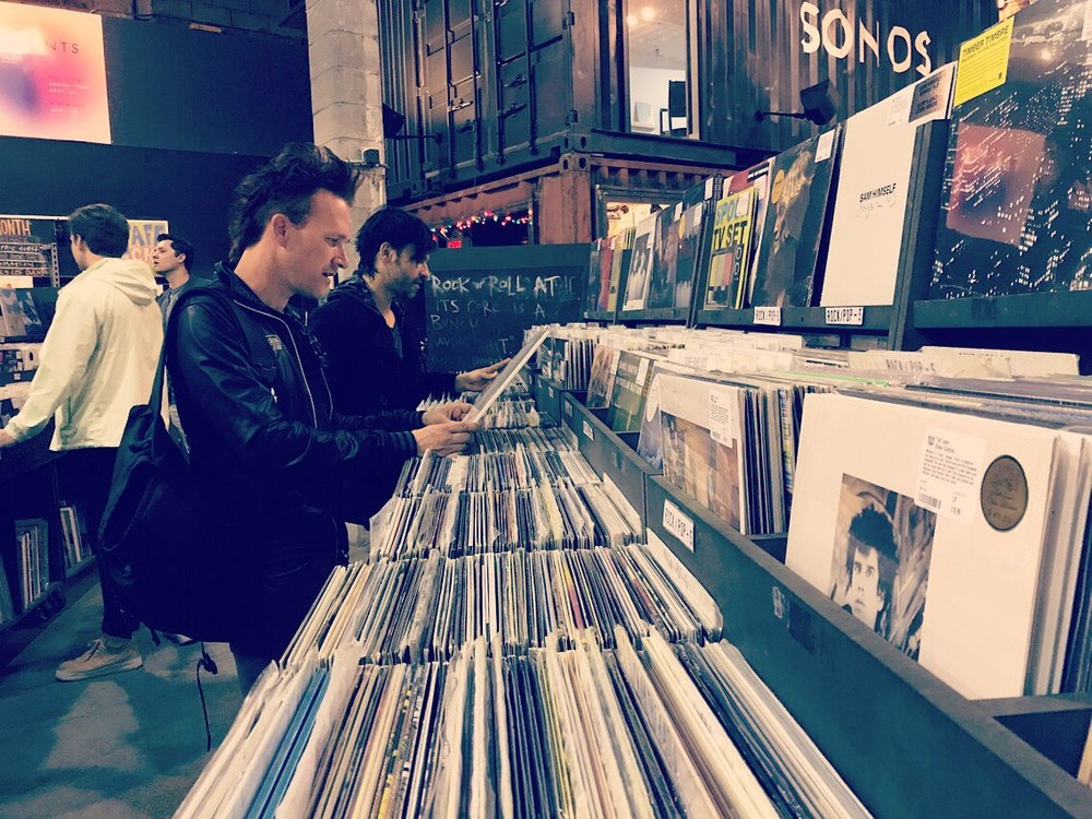 One of our favorite places to hang out is Rough Trade NYC in Brooklyn. Probably one of the best record stores on the planet.