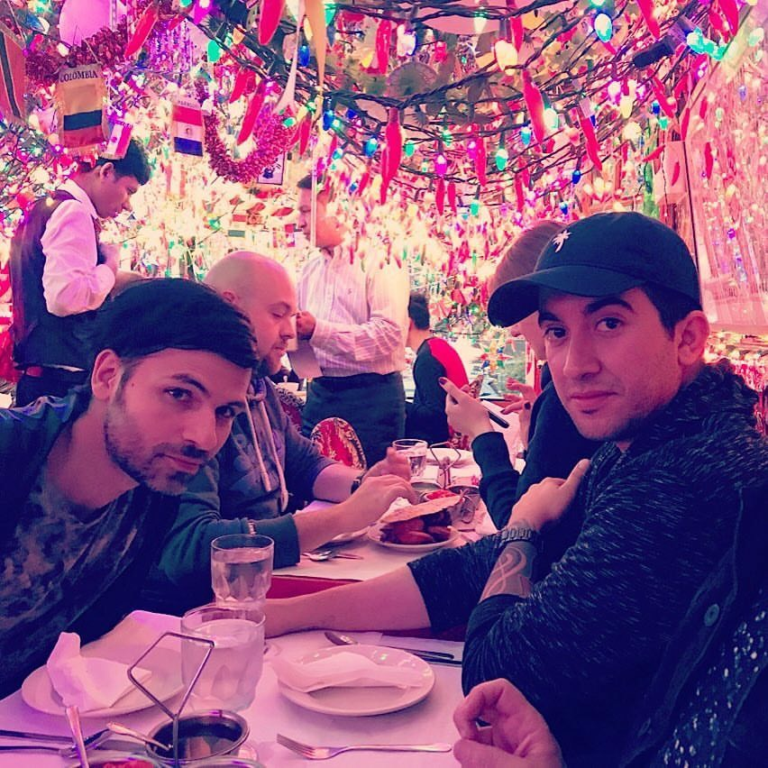 Celebrating Gibran's birthday on Cinco de Mayo at Panna II Garden Indian Restaurant in East Village. A very intimate place with great food and festive environment. The lights were insane!