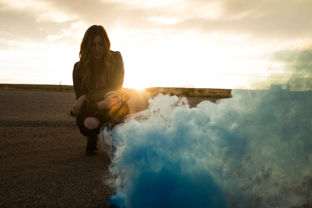 Smoke bombs. Wyoming.
