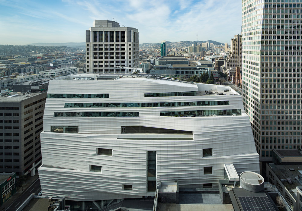 The exterior of SFMOMA