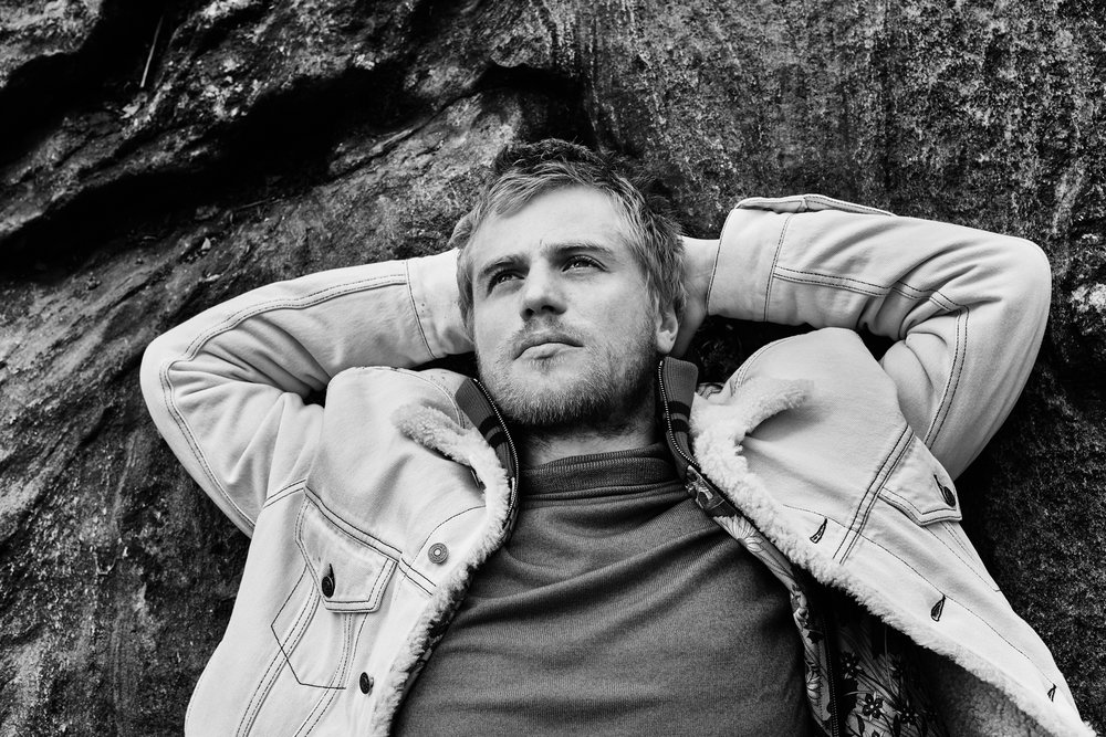 Johnny Flynn | All photos by David Needleman | Credits: GUCCI jacket and track suit and ETRO turtleneck