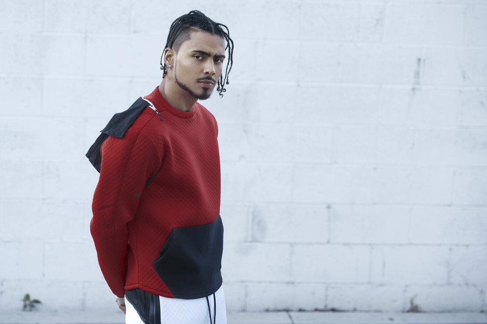 Quincy Brown | Image via Eduardo Figueroa | Credits: DYNE sweatshirt and pants.