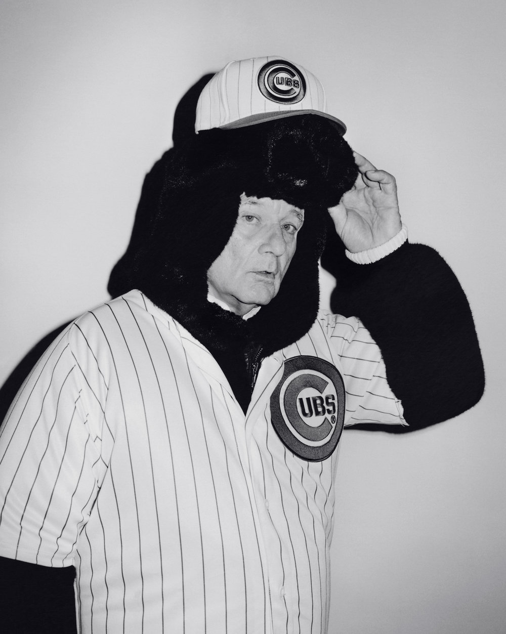 Bill Murray | all images by Andreas Laszlo Konrath | CREDITS: DOLCE & GABBANA animal suit jacket and Cubs jersey and hat.