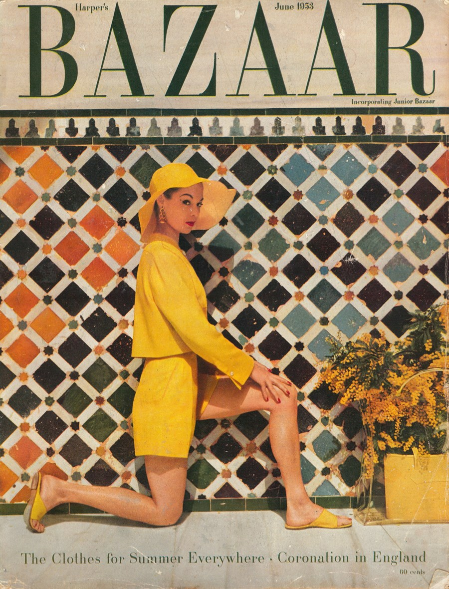 Harper's Bazaar Cover, June 1953. Photography by Louise Dahl-Wolfe, Collection Staley Wise Galley, ©1989 Center for Creative Photography, Arizona Board of Regents, Courtesy of Terence Pepper Collection