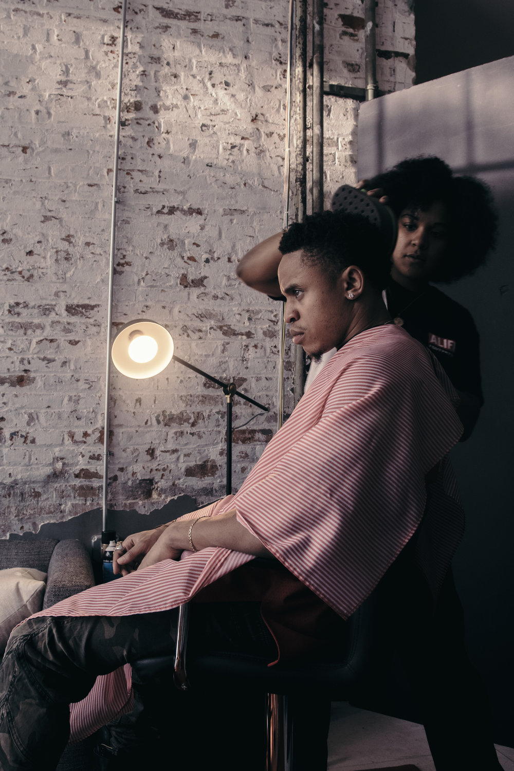 """""""The haircut is never complete without the Sponge Brush, my barber Alicia always makes sure the curls are just right!"""""""
