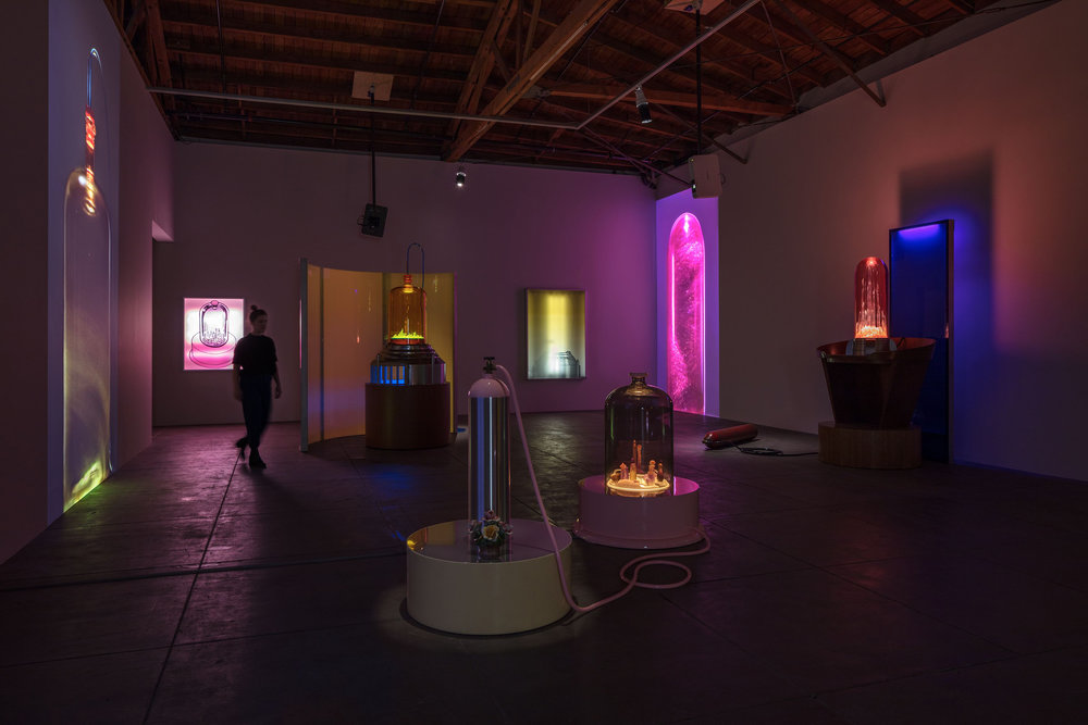 Installation view, 'Mike Kelley: Kandors 1999 –2011,' Hauser & Wirth Los Angeles, 2017. Art © Mike Kelley Foundation for the Arts. All Rights Reserved / Licensed by VAGA, New York, NY. Courtesy the Mike Kelley Foundation for the Arts and Hauser & Wirth. Photo: Fredrik Nilsen.