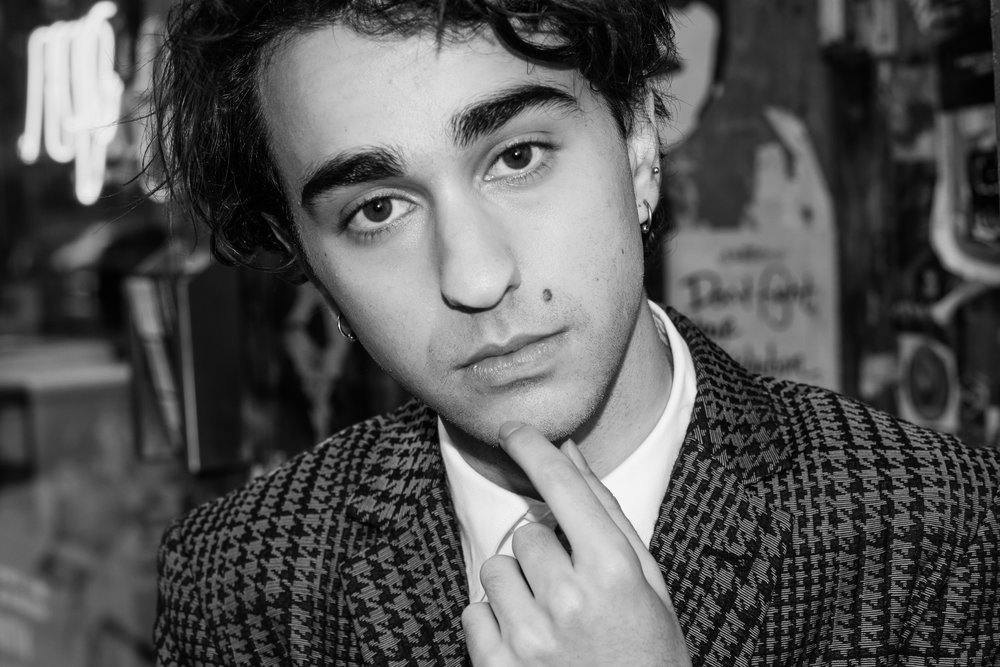 Alex Wolff  | all images shot by Bil Brown | CREDITS:  MR TURK  suit,  VIVIENNE WESTWOOD  shirt, and talent's own shoes.
