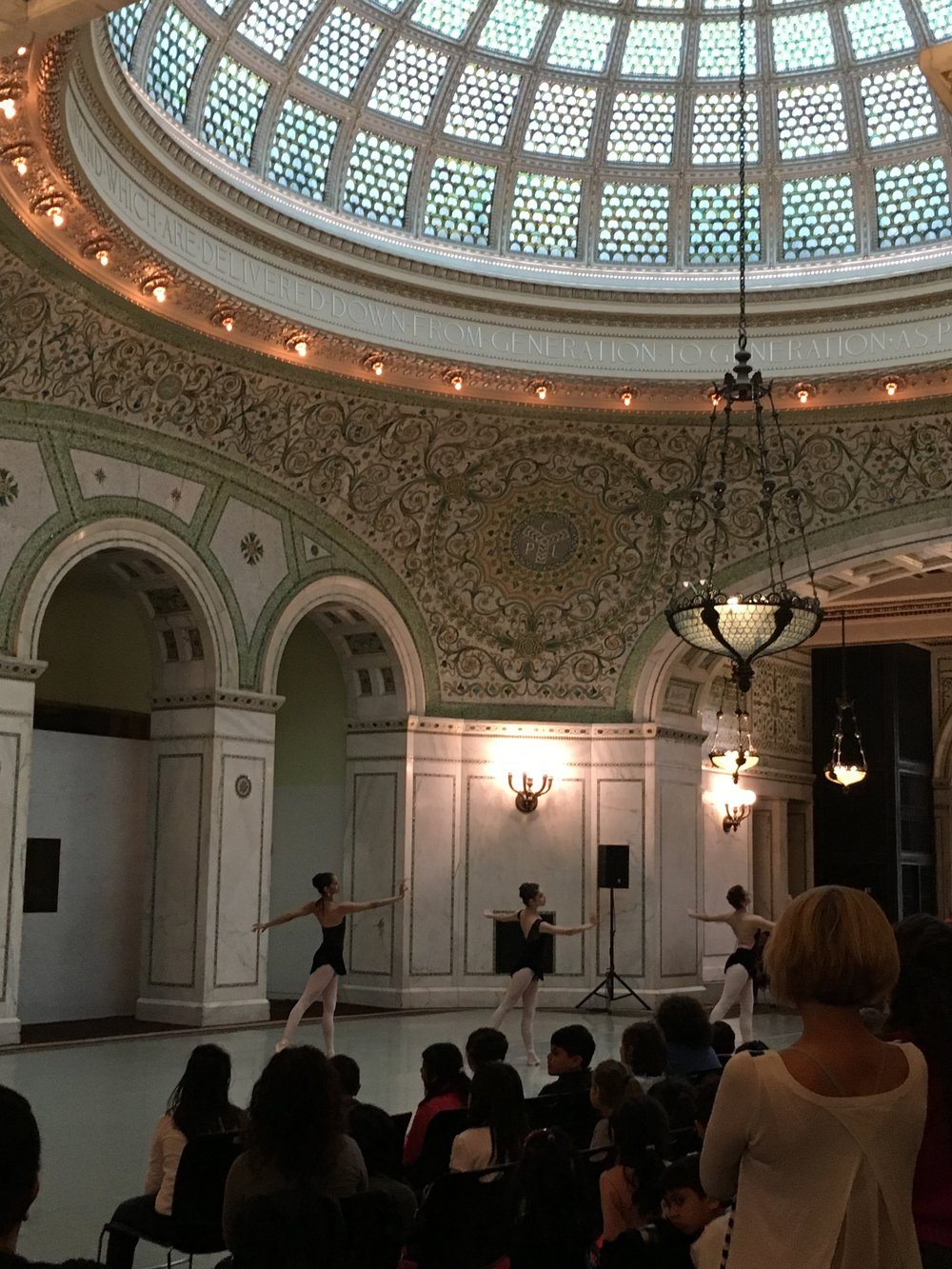 A performance at the Architecture Biennial