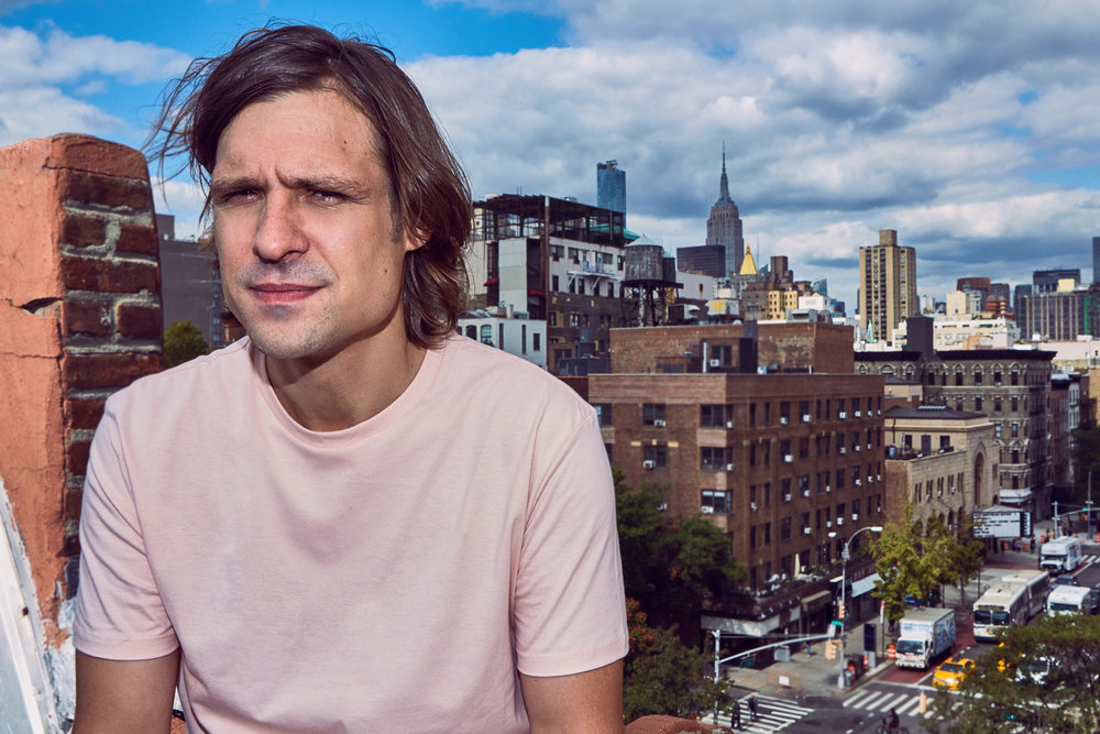 John Maus  | images by   Max Montgomery | FASHION CREDIT:  TOPMAN  t-shirt.