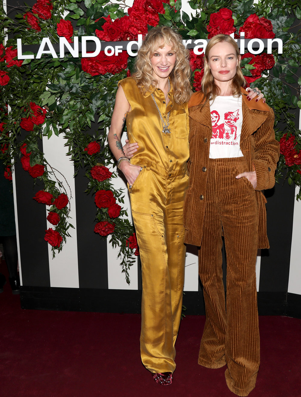 CEO Danita Short alongside actress Kate Bosworth, both wearing Land of Distraction.