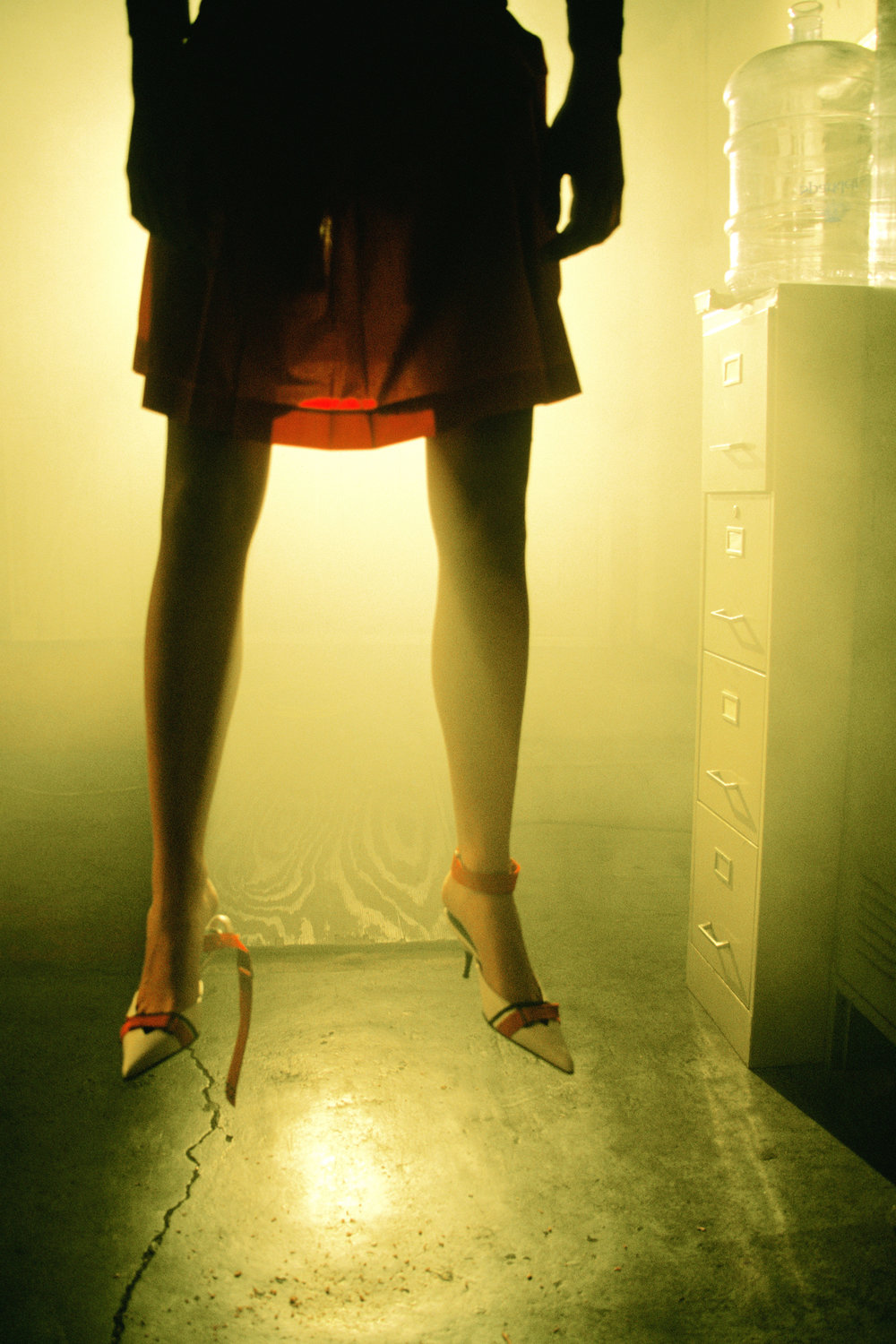 """Half Prada (Hanging Series)"" from Melanie Pullen's  High Fashion Crime Scenes  series"