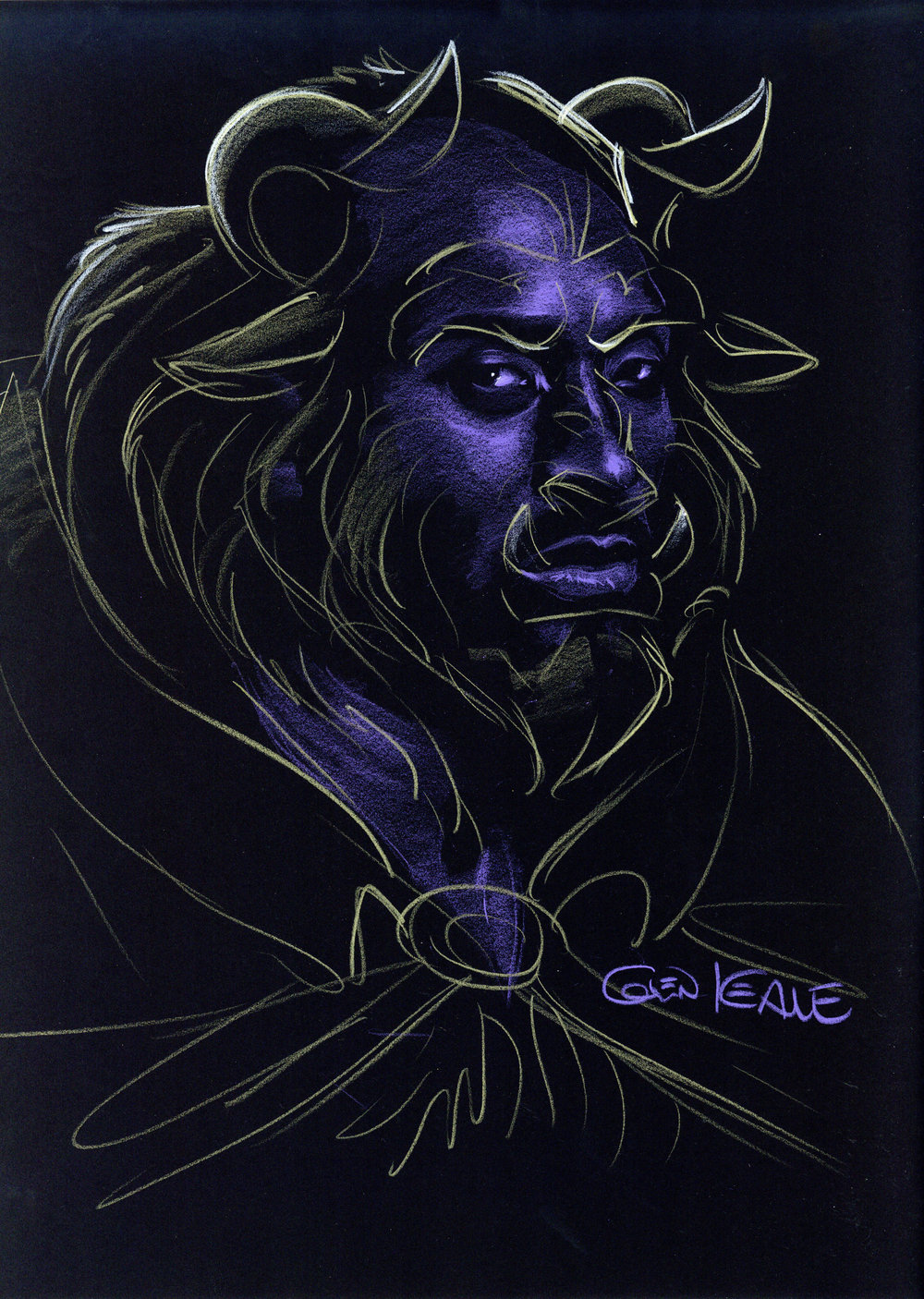 Kobe Bryant  | Photographed by Ian Morrison | Illustrated as  Beast  by Glen Keane