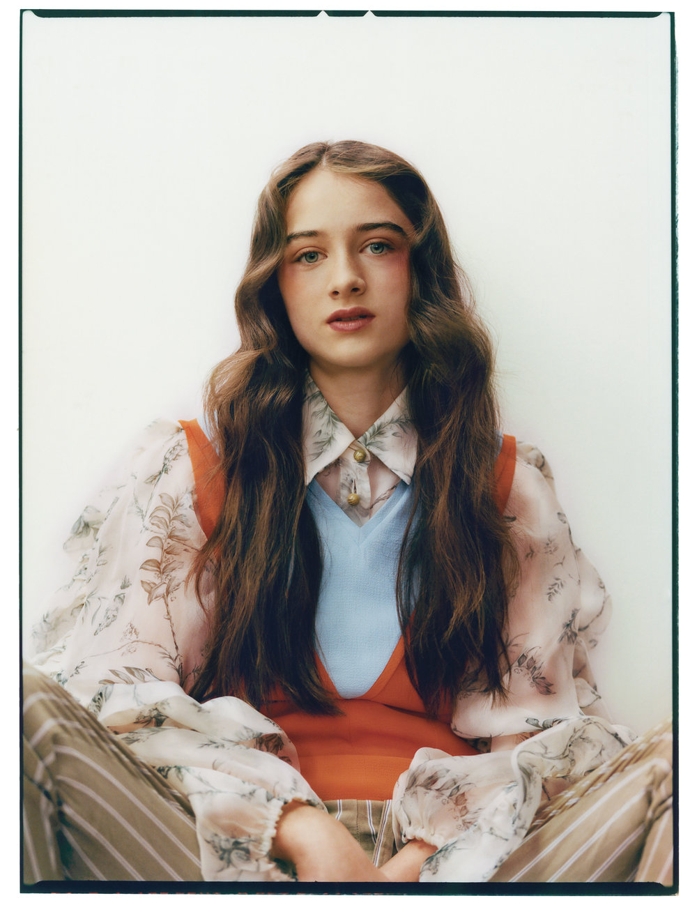 EMILIA WICKSTEAD  vest,  MULBERRY  blouse, and talent's own pants.