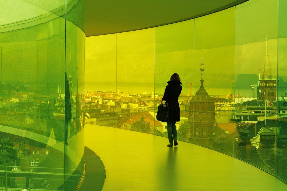 """OLAFUR ELIASSON. """"YOUR RAINBOW PANORAMA"""" (2006- 2011). AROS AARHUS KUNSTMUSEUM, DENMARK, 2011."""