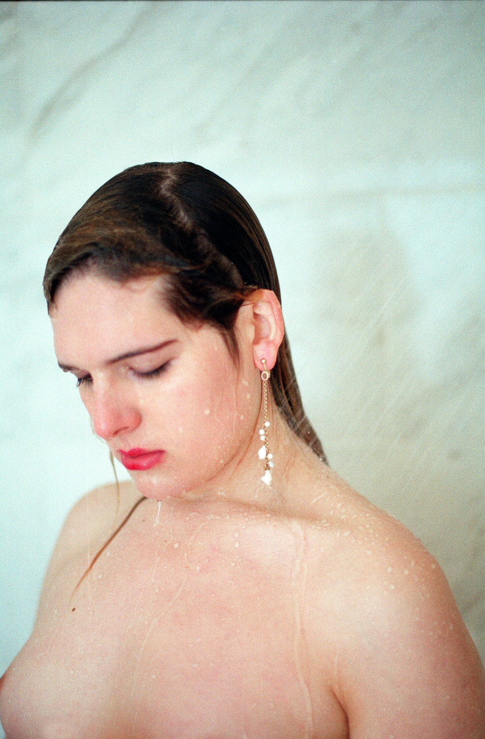 Hari Nef  | all images shot by Sandy Kim | Fashion Credits: ZIMMERMANN earring.