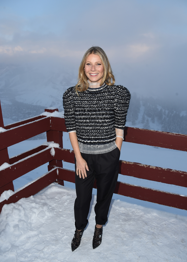 Actress Gwyneth Paltrow attends the 2018 Sun Valley Film Festival Vision Award Dinner for Gwyneth Paltrow. Photo by J. Merritt/Getty Images for Sun Valley Film Festival .