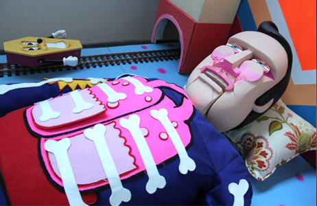 Sickboy.  Sickboy_nuart_festival_installation.  Image c/o Moniker Installation Artists
