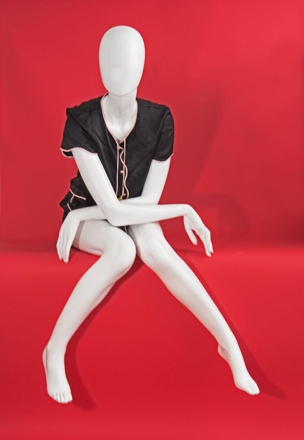 Silk nightwear set,  Morgan Lane , ($268 and $228)
