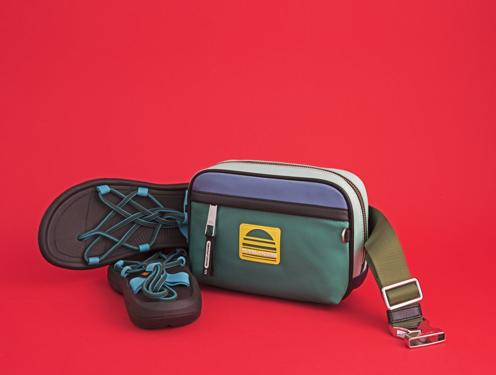 Walking sandals and belt bag,  Teva  and  Marc Jacobs , ($70 and $295).