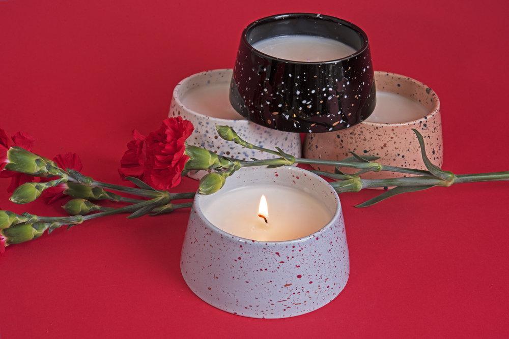 Confetti candles,  Paddywax , ($14 each).
