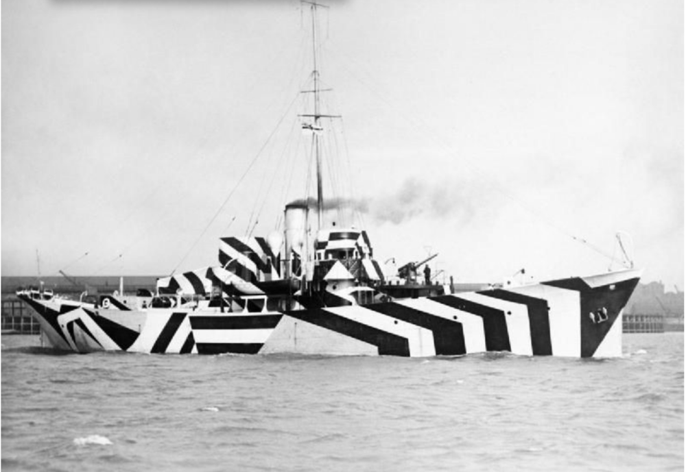 Dazzle Boat , courtesy of smithsonian magazine