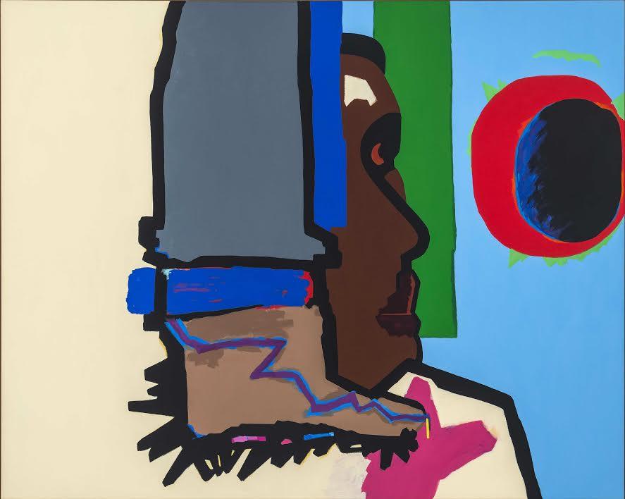 Lamar Peterson, Solar Eclipse , 2017, oil on canvas, 62.5h x 77.25w