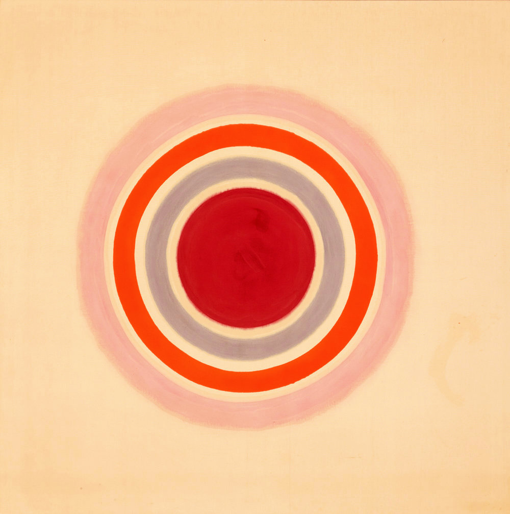 Kenneth Noland,  Spring Call , 1961. Acrylic on canvas. 82.5 x 82.5 inches. 209.6 x 209.6 cm