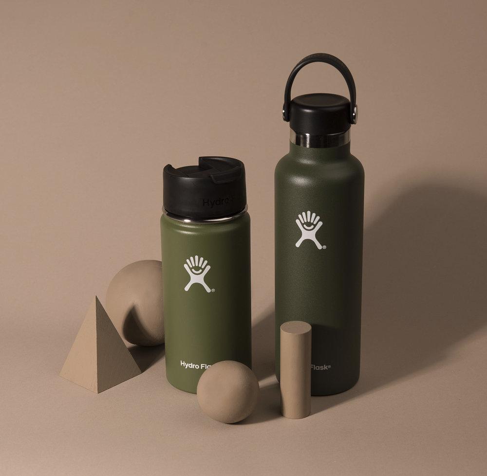 HYDROFLASK  bottles.