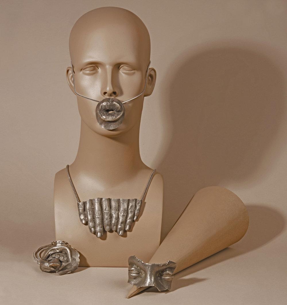 ALLIGATOR JESUS necklaces and bracelet .