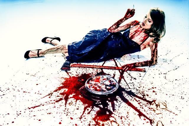 "Melanie Pullen She Loves to Kill Time (The Cliché Series), 2003 C-Print, Framed 24"" (H) x 36"" (W)"