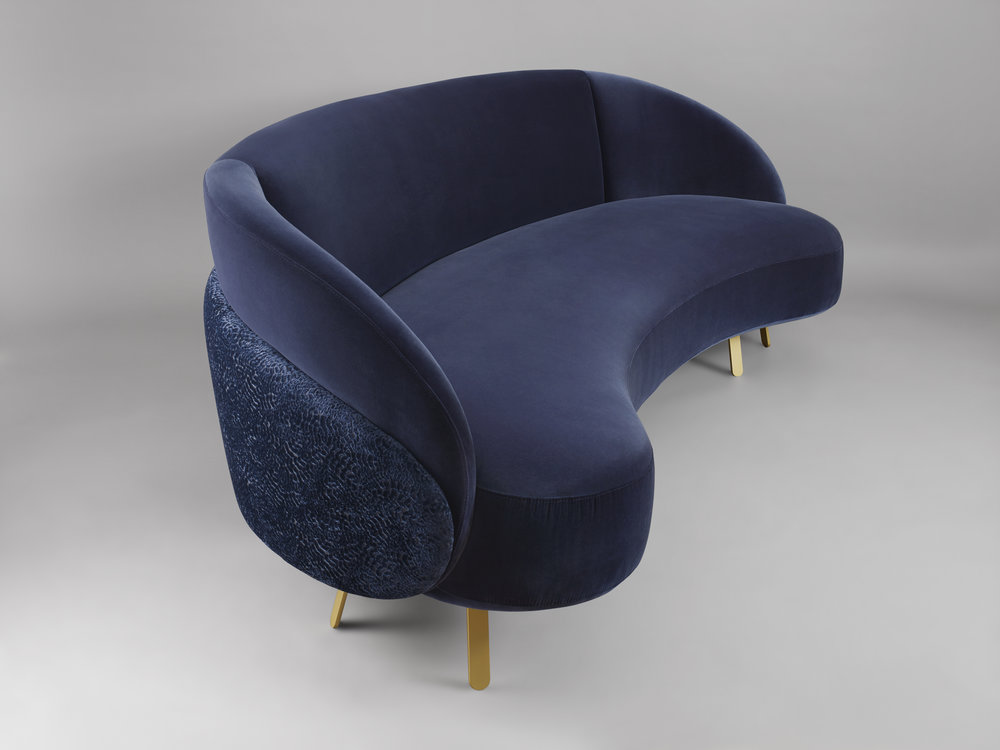 Charles Kalpakian, Crescent loveseat — to be shown at Galerie BSL, Paris