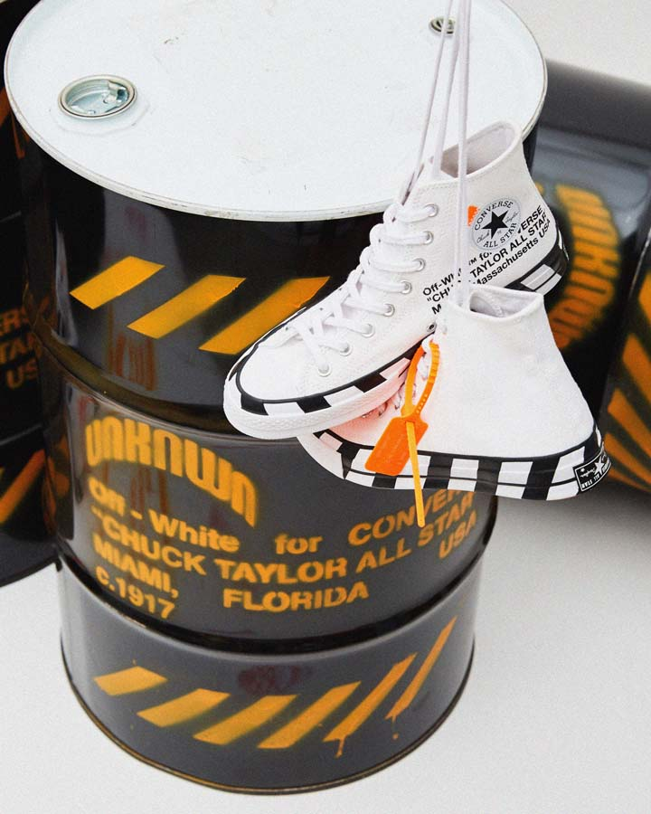 Off-White x Converse Chuck 70 will launch Monday, October 8 on UNKNWN.com, for $130.00.