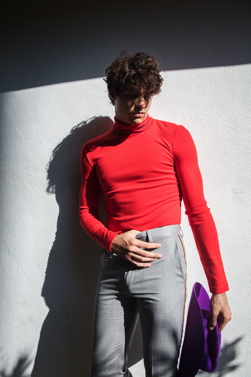 CALVIN KLEIN 205W39NYC     top, pants, and hat.
