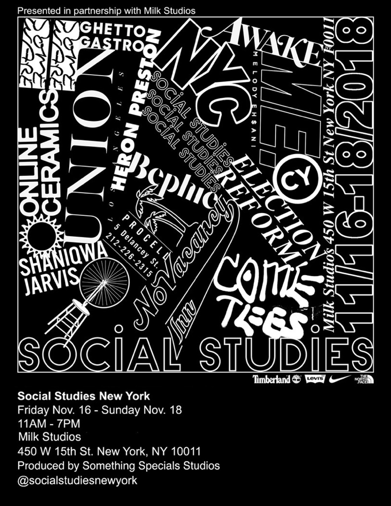 Virgil Abloh x Social Studies event flier